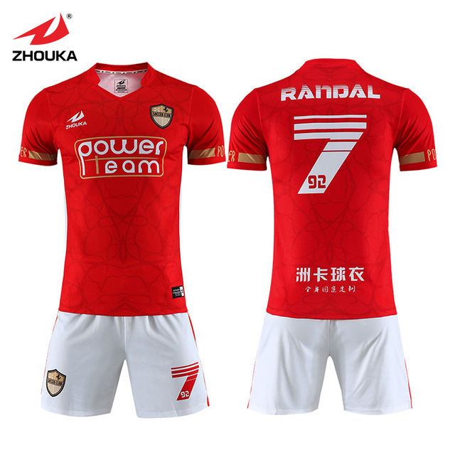 be9f21506b9c Wholesale new model original soccer tops football training kit dry fit  sports wear grade aaa thailand full set soccer jersey