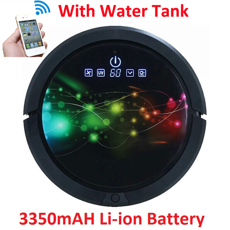 WIFI Smartphone App Control Water Tank Mini Robot Vacuum Cleaner QQ6 Sweeping,Vacuum,UV,Wet And Dry Mop,3350mAH Lithium Battery cleanmate robot vacuum cleaner qq6 mini cleaner ultrasonic app in wifi control dry wet mop water tank virtual wall