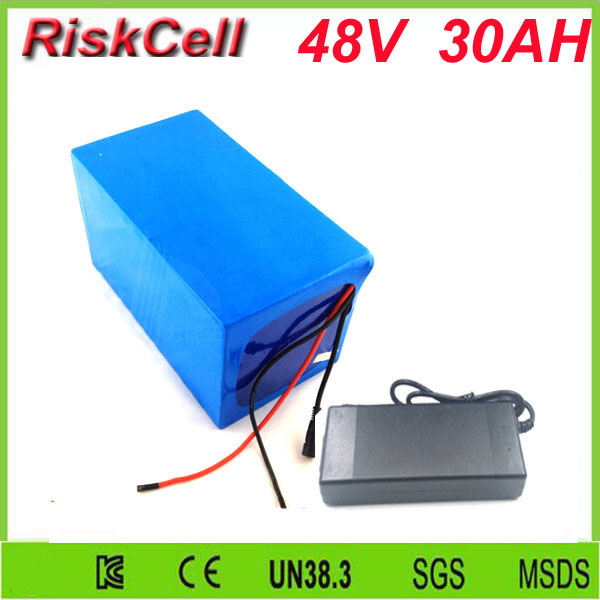 Free Customs taxes  High quality rechargeable battery 48v 30ah 2000W  Lithium ion Battery Pack and 50A BMS and Charger free customs taxes factory36 volt battery pack with charger and 20a bms for 36v 10ah lithium battery
