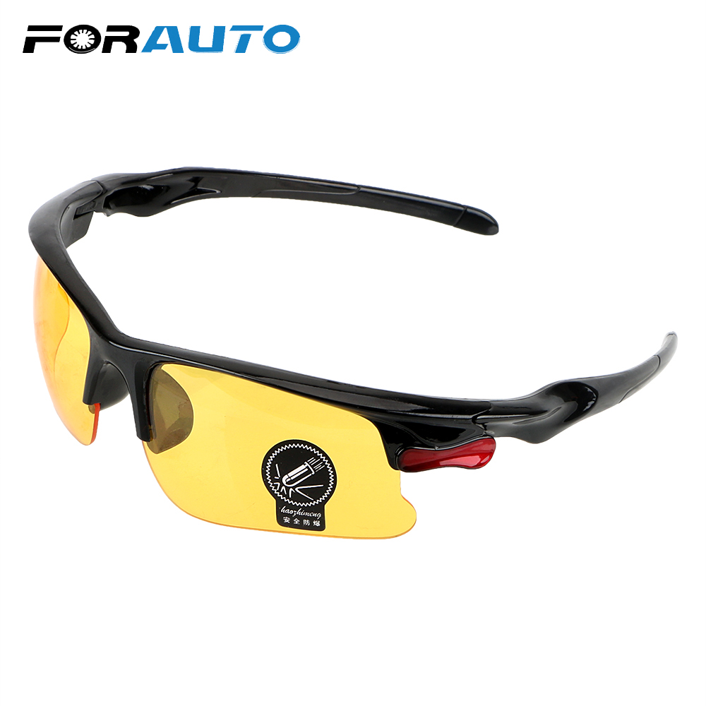 FORAUTO Night-Vision Glasses Protective Gears Sunglasses Driving Glasses Anti Glare Night Vision Drivers Goggles