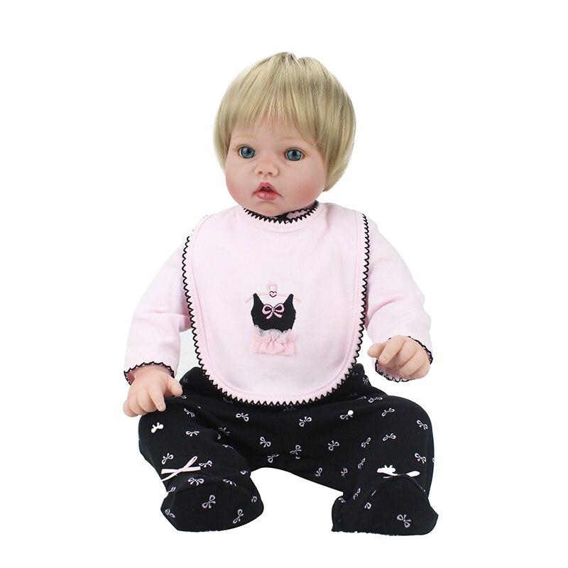22 inch 55cm Silicone Reborn Baby Dolls Handmade Lifelike Real Dolls  Princess Girl Kids Reborn Babies Toys Birthday Xmas Gift-in Dolls from Toys  & Hobbies ...