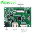 2HDMI edp 30 pin плата контроллера Модуль DIY Набор для Raspberry Pi PC матрица разрешение 1920*1200 1920*1080 1366*768 PCB800807V6