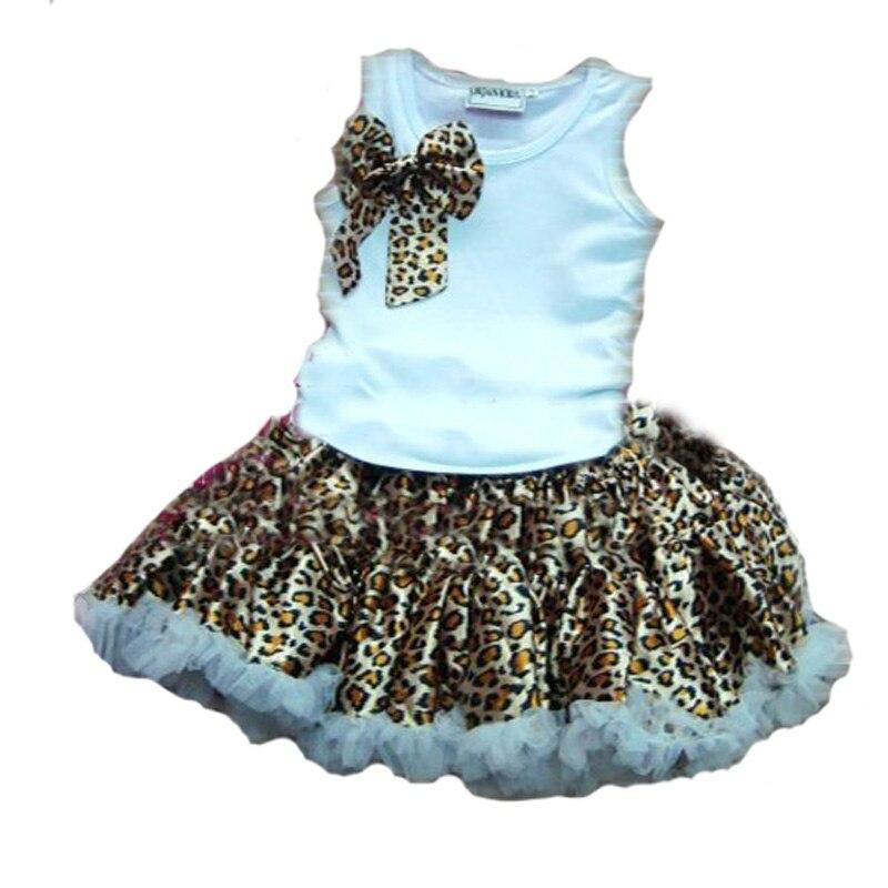 7f16e23a05ffe Summer Girl Kids Clothing Set 2016 brand white t shirt+Leopard skirt 2pcs kids  girl clothig set summer kid clothing set for girl