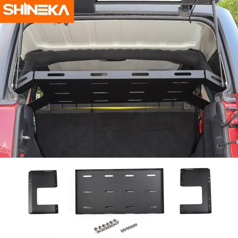 shineka rear racks for jeep wrangler jk jl 2007 2021 rear trunk storage rack cargo luggage holder for jeep wrangler jk jl 2021