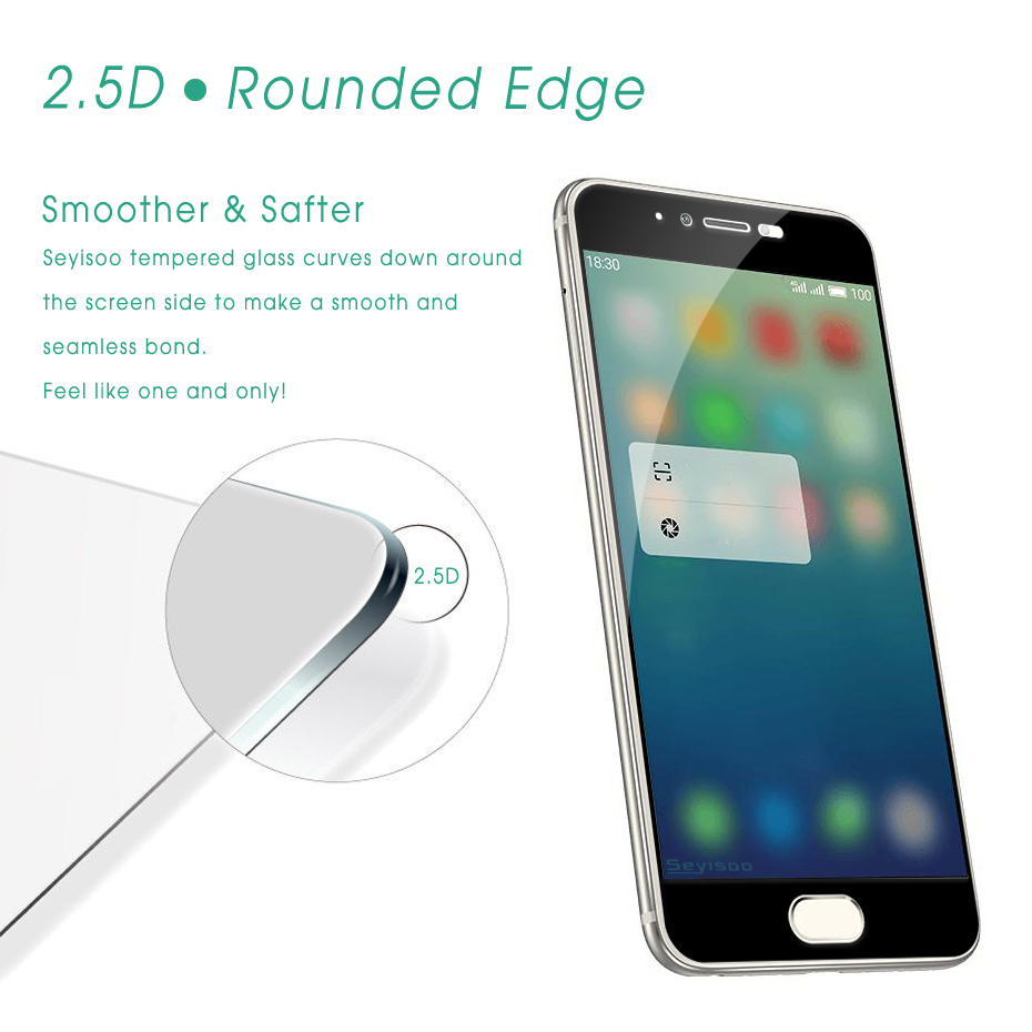 Seyisoo Brand Full Cover Tempered Glass For Meizu pro 6 (10)