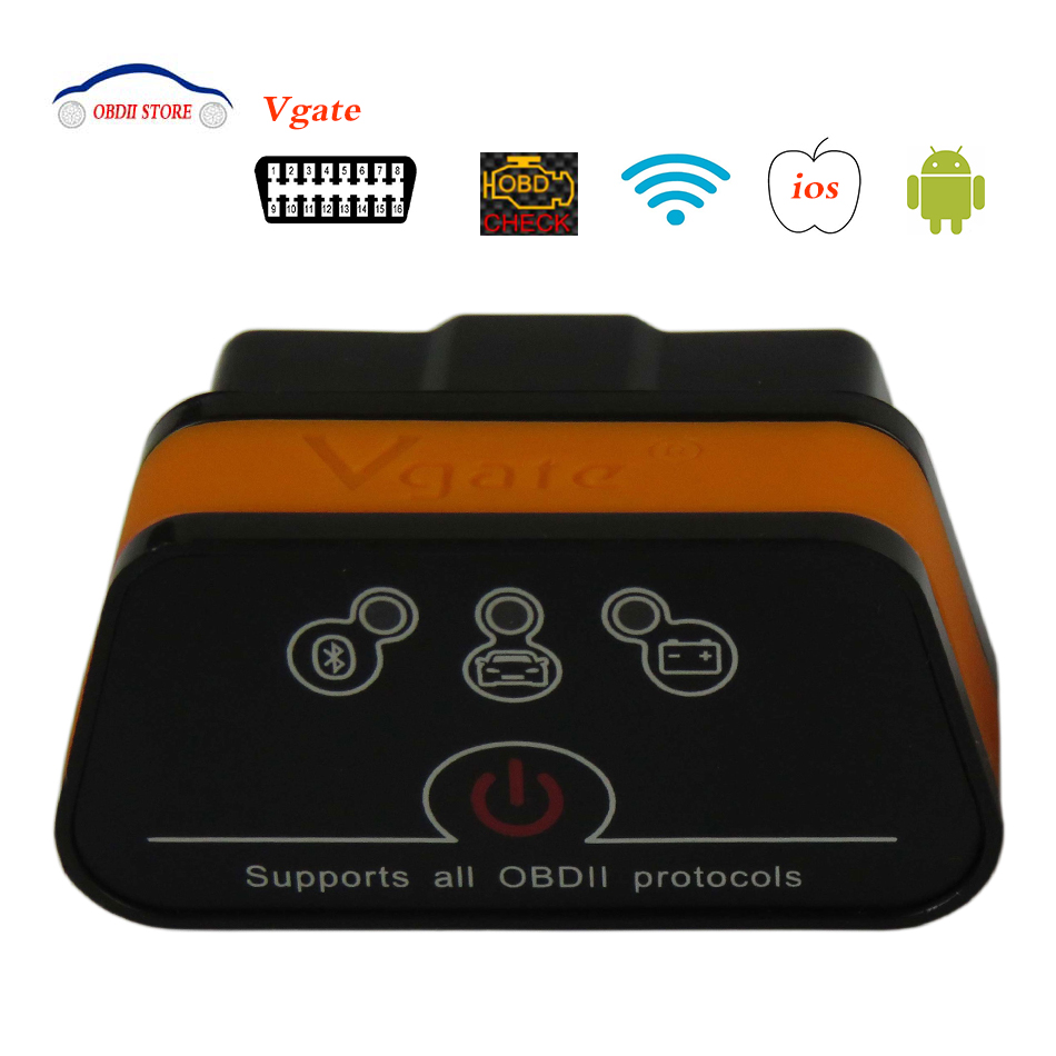 Buy Vgate iCar2 ELM327 WiFi OBD2 Auto Car Diagnostic Scanner icar 2 Elm 327 Wi-Fi supports all OBDII protocols OBD 2 Diagnostic tool for $18.75 in AliExpress store