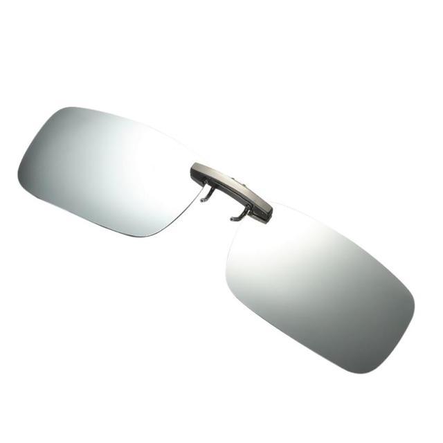 4dbc212d8798 2018 Hot sale Rectangular Aluminium magnesium alloy Polarized sun Lenses  MEN DRIVING Clip on sunglasses METAL Polarized Clip-On