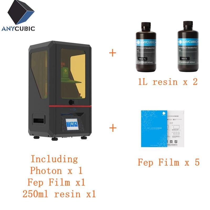 ANYCUBIC Photon 3D Stampante A Buon Mercato LED UV Resina SLA/LCD Montato Impresora 3D 2.8 TFT A Colori Dello Schermo 3d drucker imprimanteANYCUBIC Photon 3D Stampante A Buon Mercato LED UV Resina SLA/LCD Montato Impresora 3D 2.8 TFT A Colori Dello Schermo 3d drucker imprimante