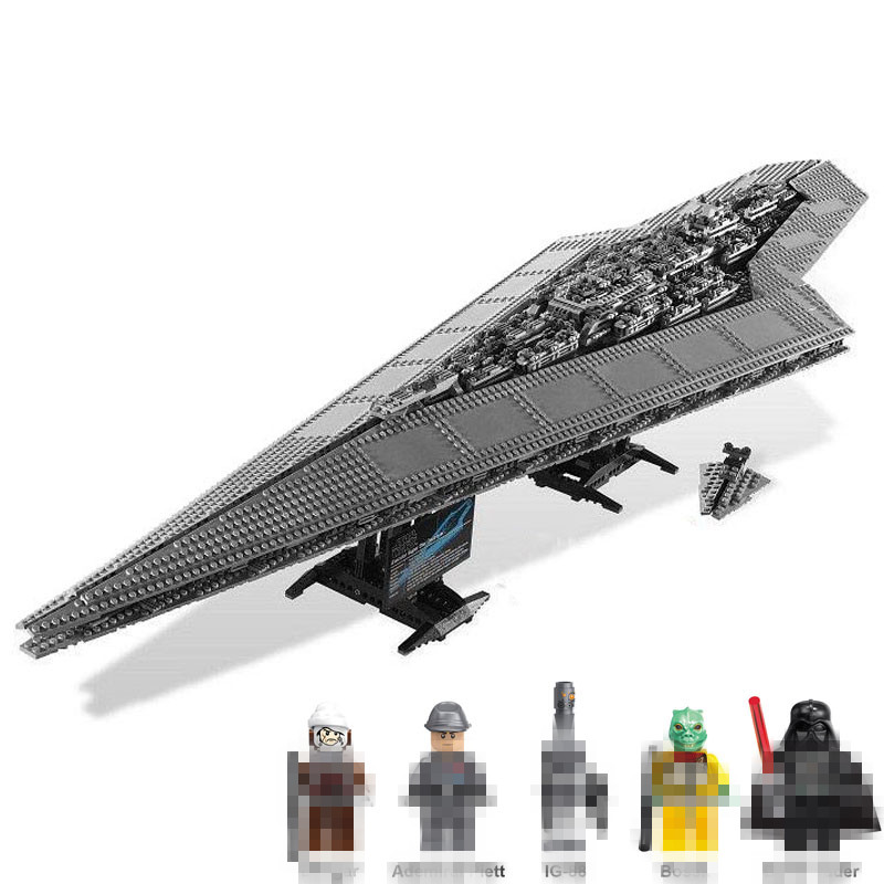 Lis Super Destroyer Model Building Blocks Imperial Star action Star Execytor Wars Bricks Toys Compatible 10221 legoINGLYS 05028 05028 star wars execytor super star destroyer model building kit mini block brick toy gift compatible 75055 tos lepin