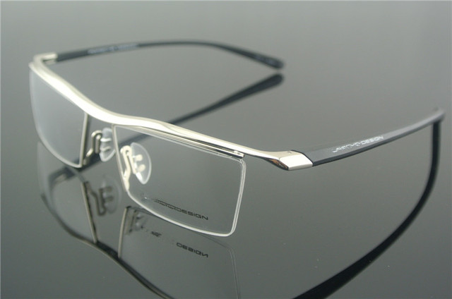 d84d39facc TR90 Eyeglass Frame Silver Half Rim Glasses Man Women Spectacles Rx able  Optical E8189 Brand New