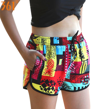 361 Women Beach Shorts  Boardshorts Quick Dry Shorts for Women Surfing Pant Sports Swimming Trunks Female Swimsuit Print Bather