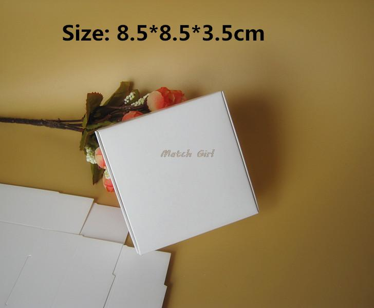 50pcs/lot-8.5*8.5*3.5cm White Aircraft Cardboard Boxes, Handmade Gift/ Jewelry/ Snack Packing Boxes