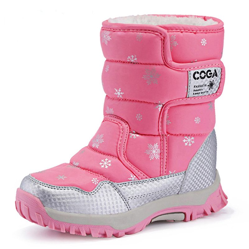 Girls Snow Boots Children Shoes Winter Boots For Girls Sport Child Shoes Kids Sneakers Brand Fashion