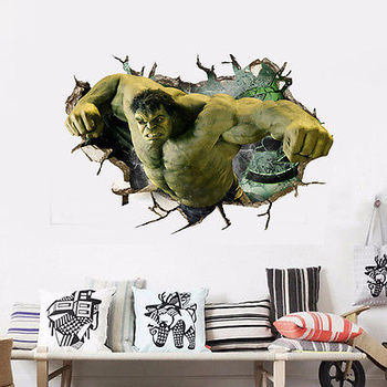 HULK Wall Sticker Removable Hero For Kids Room