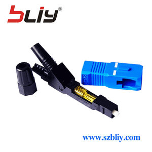 Image 3 - Bliy 100pcs embedded FTTH Fiber Optic quick Connector FTTH Tool Cold Fiber Fast Connector for multi mode and single mode