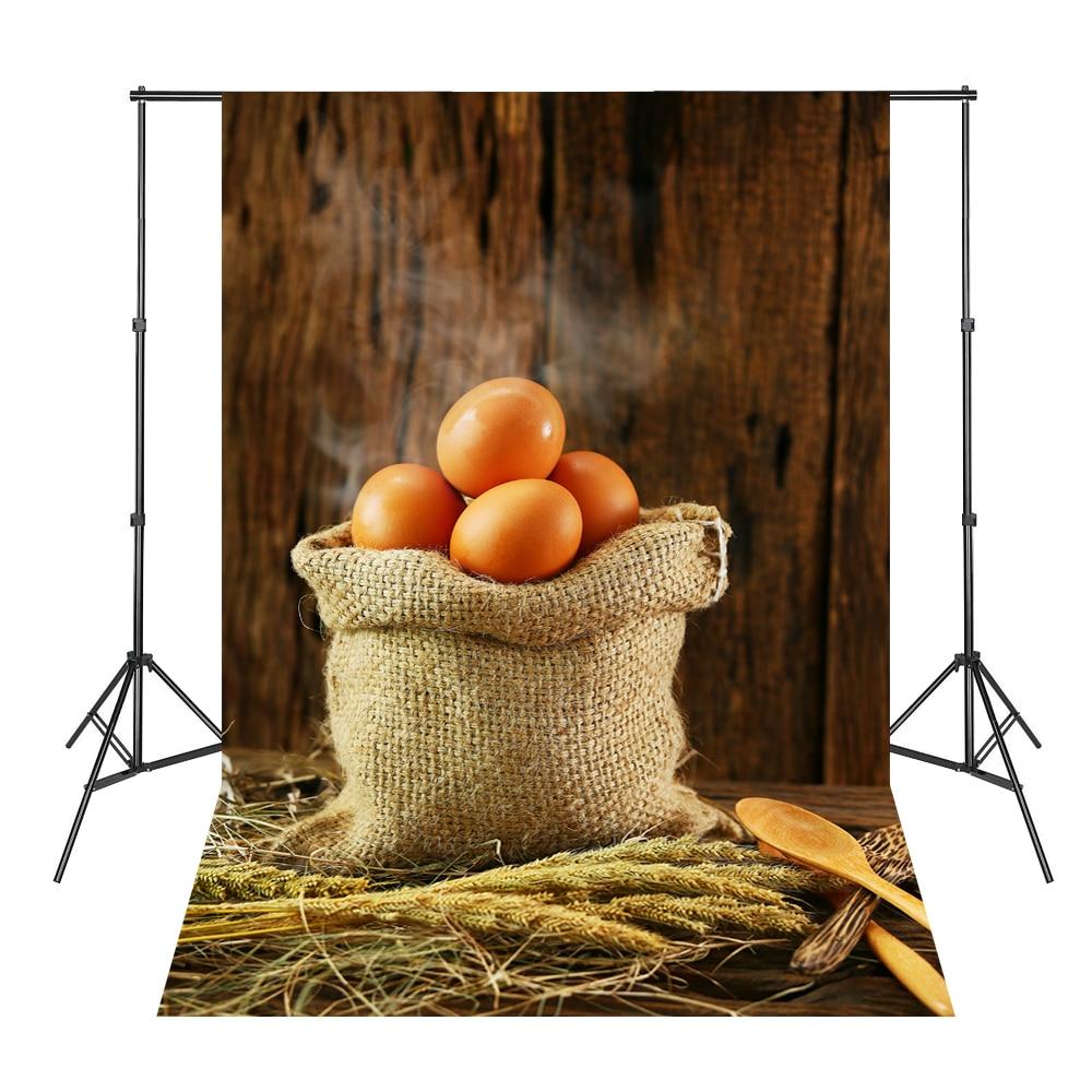 Brown Wood Board Eggs Straw Theme Background Atrezzo Fotografia Estudio Vinil Backgrounds for Photo Studio цена 2017
