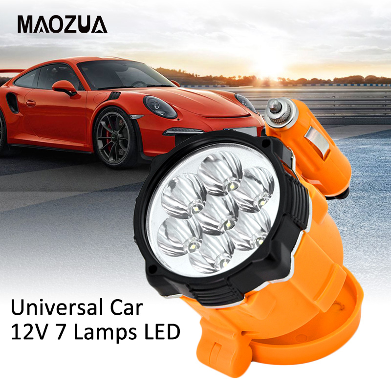 Universal Car 12V 7 Lamps LED Magnet Car Emergency Lights Lighter Magnetic Auto Car Repair Work Light