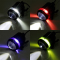4 color Confiable Impermeable Negro Shell LED U3 30 w Moto Motocicleta Faro Spot Light drop shipping ~ ~