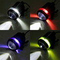 4 color Dependable Waterproof Black Shell U3 LED 30w Motor Bike Motorcycle Headlight Spot Light drop shipping~~