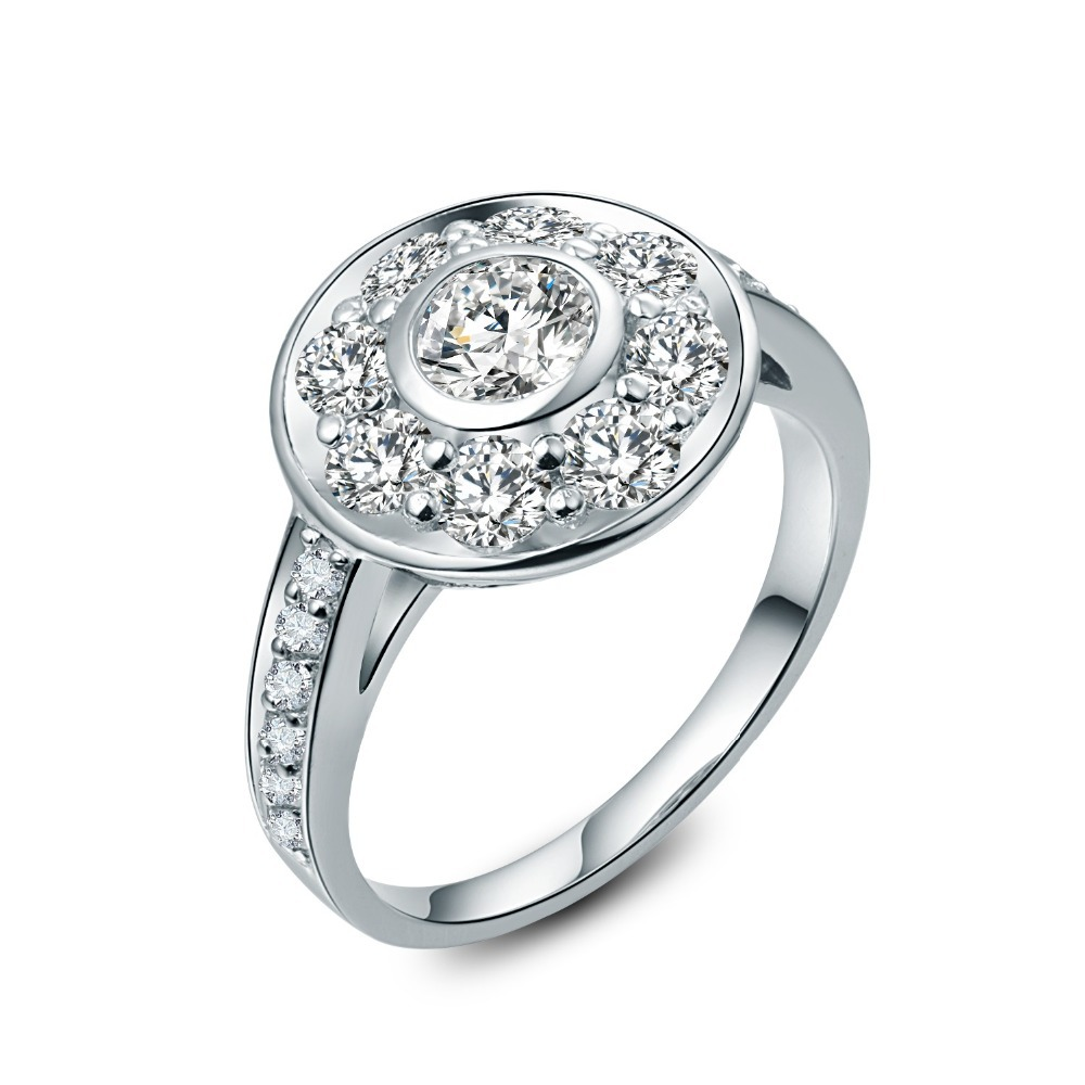 25 Carat Pure 750 Gold Flower Style Subtle Charles&colvard Moissanite Engagement  Ring Popular Design Ring Fast
