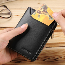 Brand  Genuine Leather Men Wallet with Card Holder Mans Luxury Short Purse