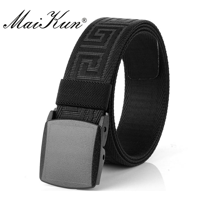 Maikun Nylon Belts for Men Military Tactical Outdoor Male Belts for Jeans Luxury
