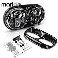 DOT 90W Dual LEDไฟหน้าเปลี่ยนชุดสำหรับGlide CVO Custom FLTRXSE EFI FLTRIสำหรับ 2004 2013 แผนที่Glideอุปกรณ์เสริม