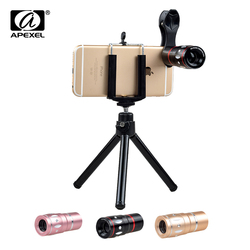 Apexel universal 10x telephoto zoom lens mobile phone camera lensesfor iphone 6s 7 plus samsung xiaomi.jpg 250x250
