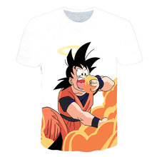 Newest Famous The Dragon Ball super Men Cloths Son Goku Saiyan Printed Basic T Shirt Fashion dragonball z Simple Tee For Male