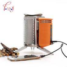 stainless steel CampStove with rechargeable device for wood stove Outdoor Hiking Camping backpack picnic kitchen bbq 1pc