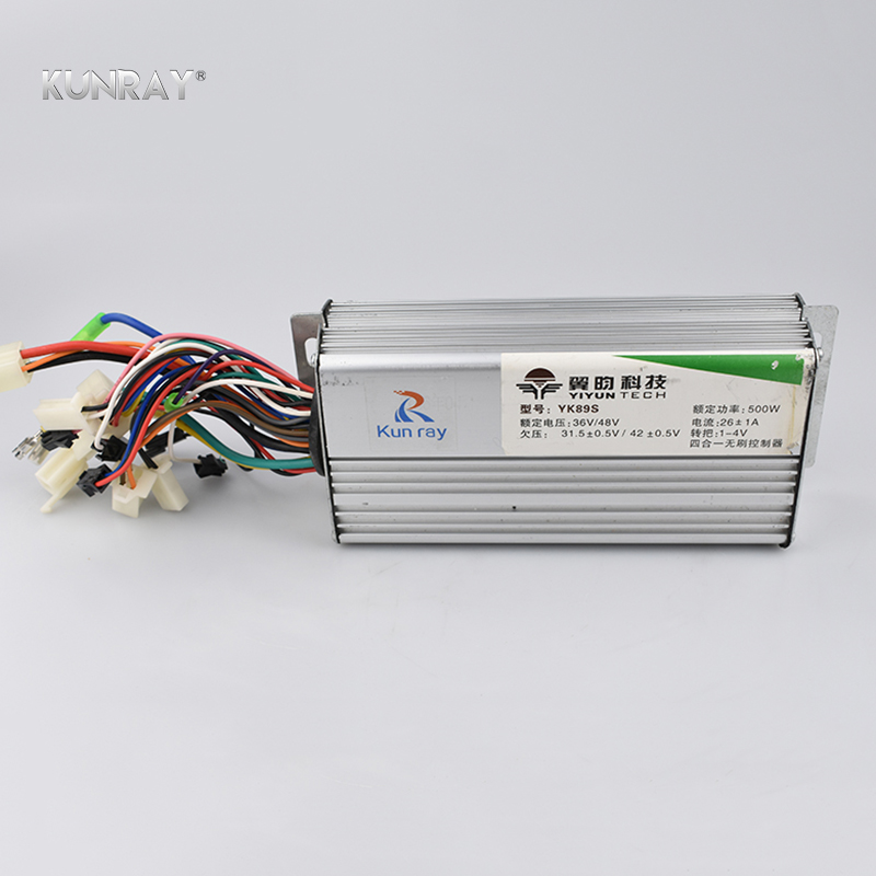 YK89S 36V/48V 500W 26A Brushless DC Motor Controller Electric Bike Scooter E-Car Tricycle Part 120 Degree With Hall Reverse цена