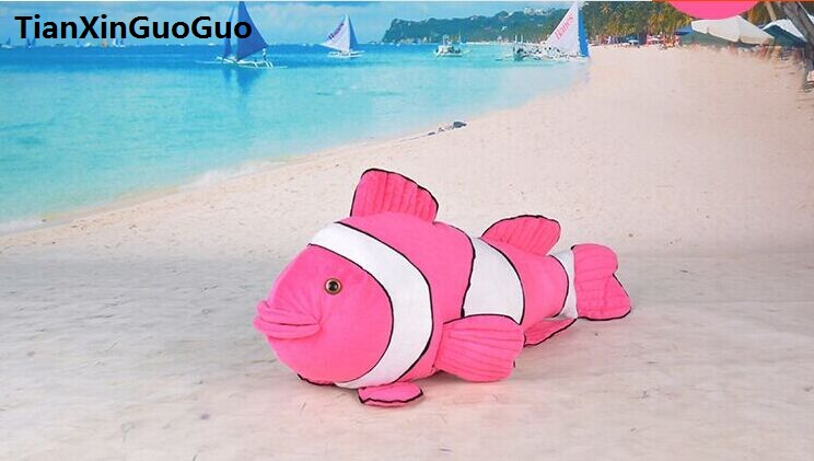 large 52cm hot pink Clown fish plush toy,soft doll creative throw pillow birthday gift h2108