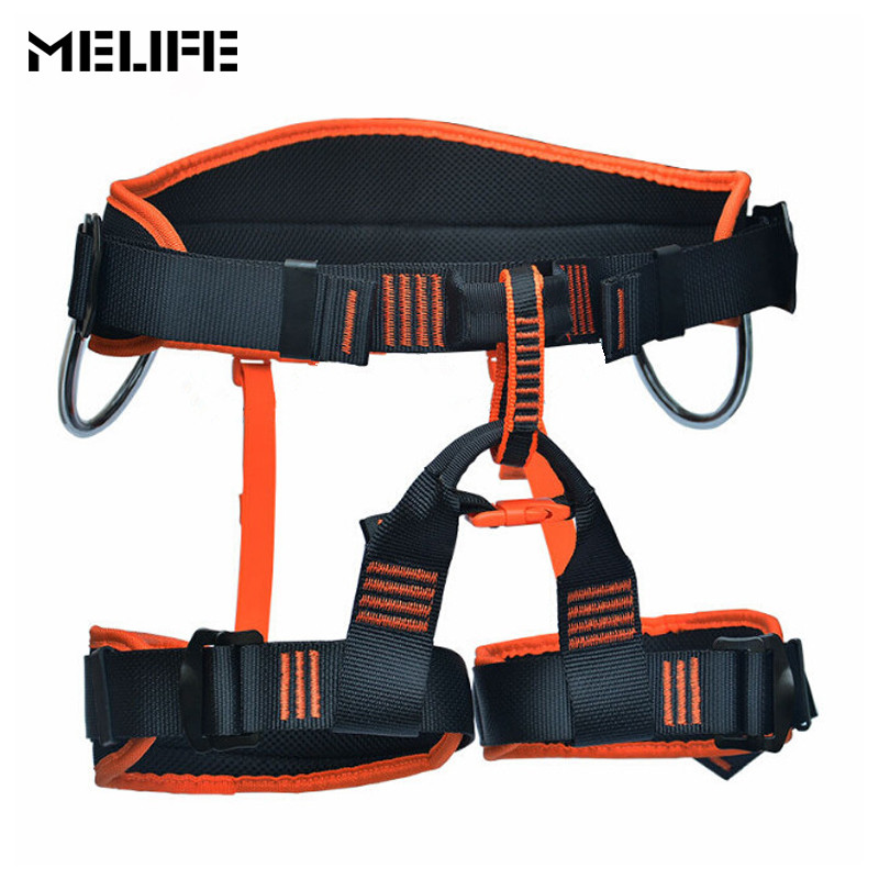 MELIFE Outdoor Professional Mountaineering Safety Belt Rock Camping belt Downhill Rappel Safety Belts Climbing Equipment Tools