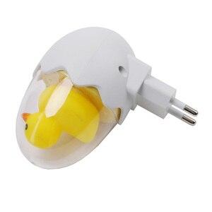 Image 5 - Canard oeuf nuit lampe prise murale sans fil télécommande LED veilleuse chambre lampe pour enfants enfant cadeau lumière douce blanc chaud