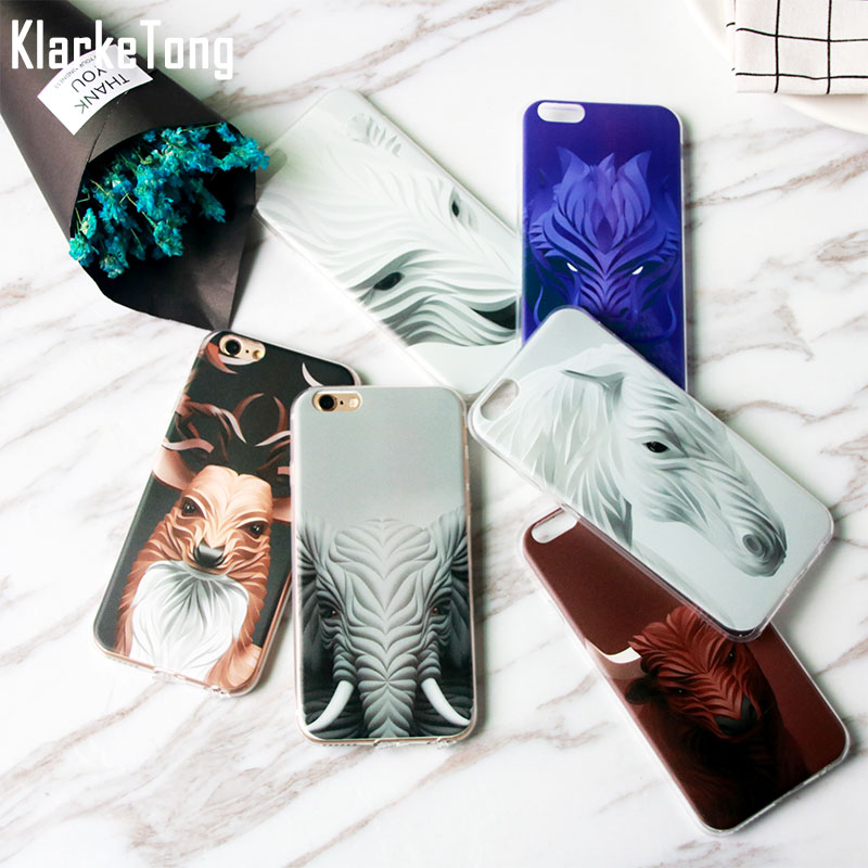 Animal Snake Horse Bull Bear Elephant Design Phone Cases For iPhone XS MAX XR 7 8 6 6s Plus 5s