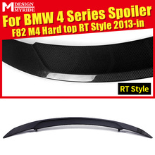 купить For BMW F82 F83 M4 420i 428i 430i 440i Rear Spoiler Hard top RT Style Carbon Fiber Rear Trunk Spoiler Tail Wing car styling 13+ дешево
