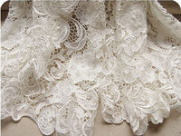African Lace Fabric 2018 Chic White Crocheted Nigerian Lace Material For Woman Dress, Costume Design, Home Decor