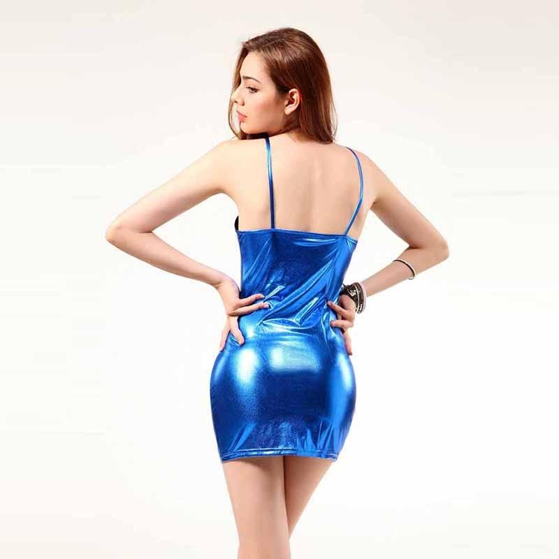 HTB1Pf30avfsK1RjSszgq6yXzpXau 4XL Ladies Sexy Club Party Sheath Dress Sleeveless Spaghetti Strap Low-cut Dress Women's Clothing Front Zipper Mini Vestidos