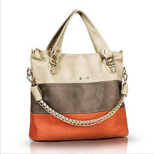 New Famous Brand Panelled Vintage Handbag PU Leather Womens Big Tote Bags Female Shoulder Crossbody Bags For Women Handbag