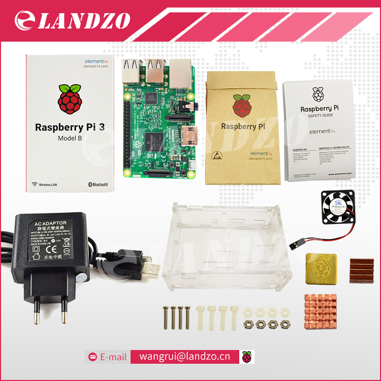 D Raspberry Pi 3 Model B starter kit pi 3 font b board b font pi
