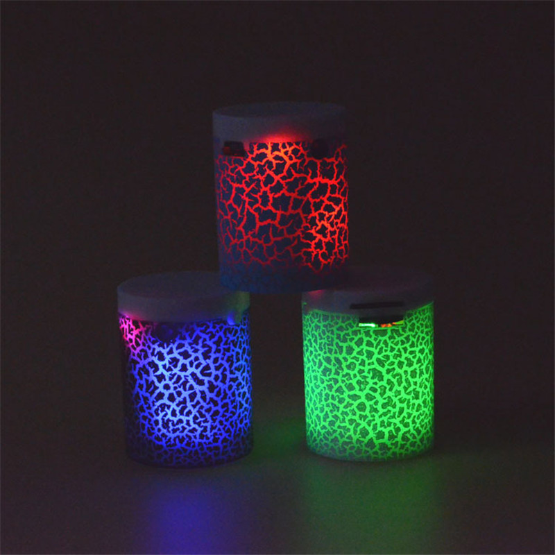 LED without Bluetooth Speaker Mini Speakers Hands Free Portable Wireless Speaker With TF Card Mic USB Audio Music Player