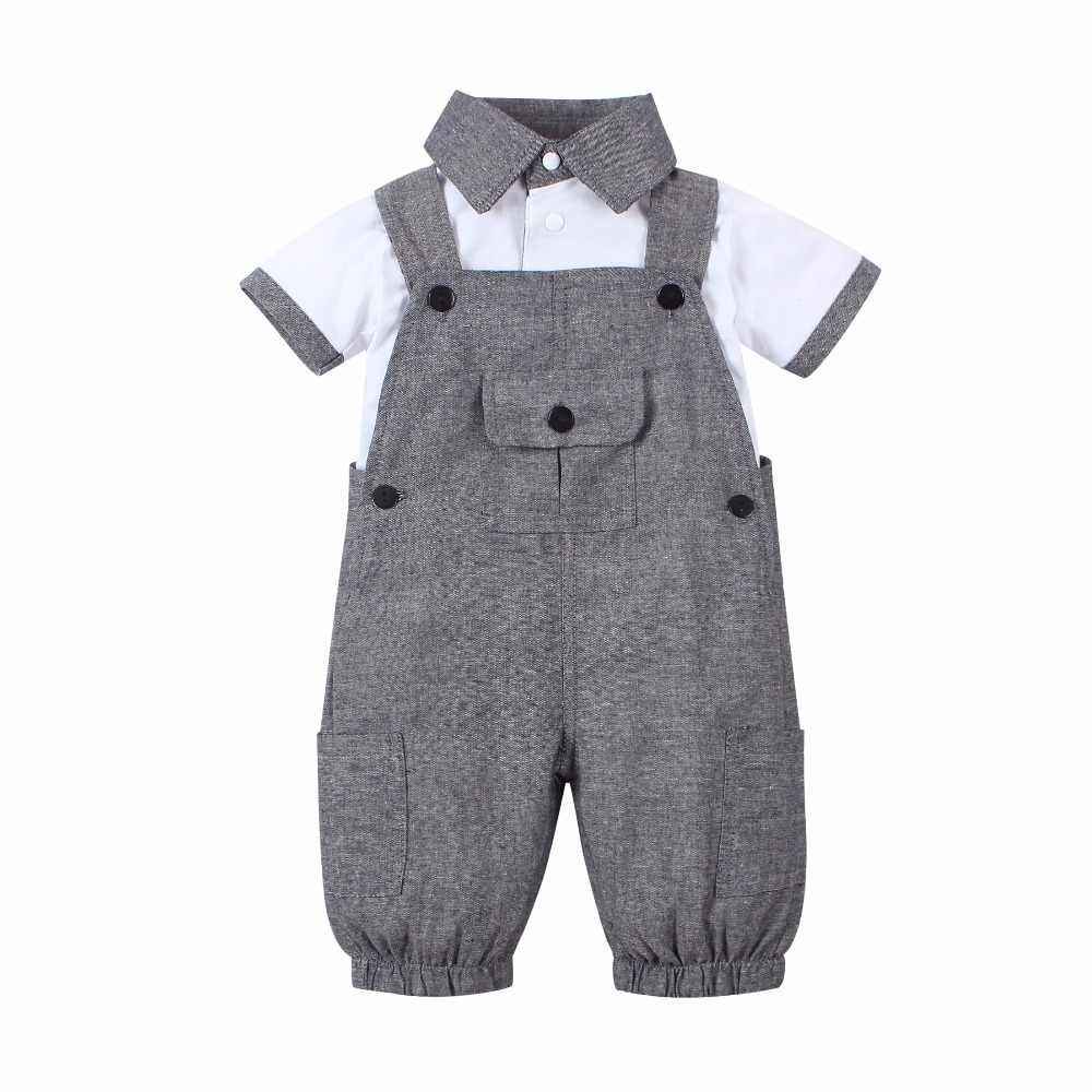 d6f40ca4d 2019 New arriva Popular style Baby boys clothing set(short sleeve T  shirt+Overalls)suit newborn baby boy clothes conjuntos