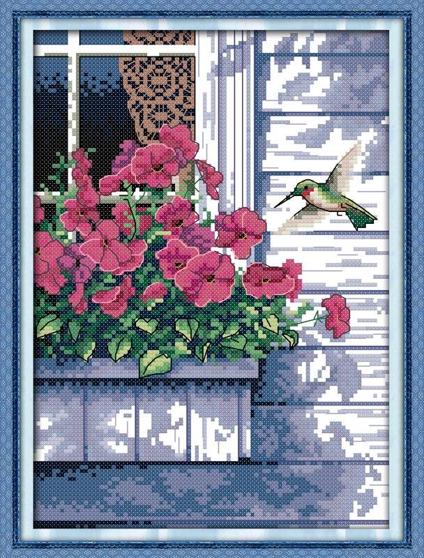 Freude Sonntag tier stil Hummingbird ziemlich halloween kreuzstich kits handwerk geschenk für dekoration