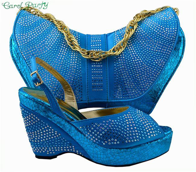 Модная обувь итальянского дизайна с подходящая Сумочка Высокое качество для особого случая итальянские туфли и сумочка для вечеринки Бесп…