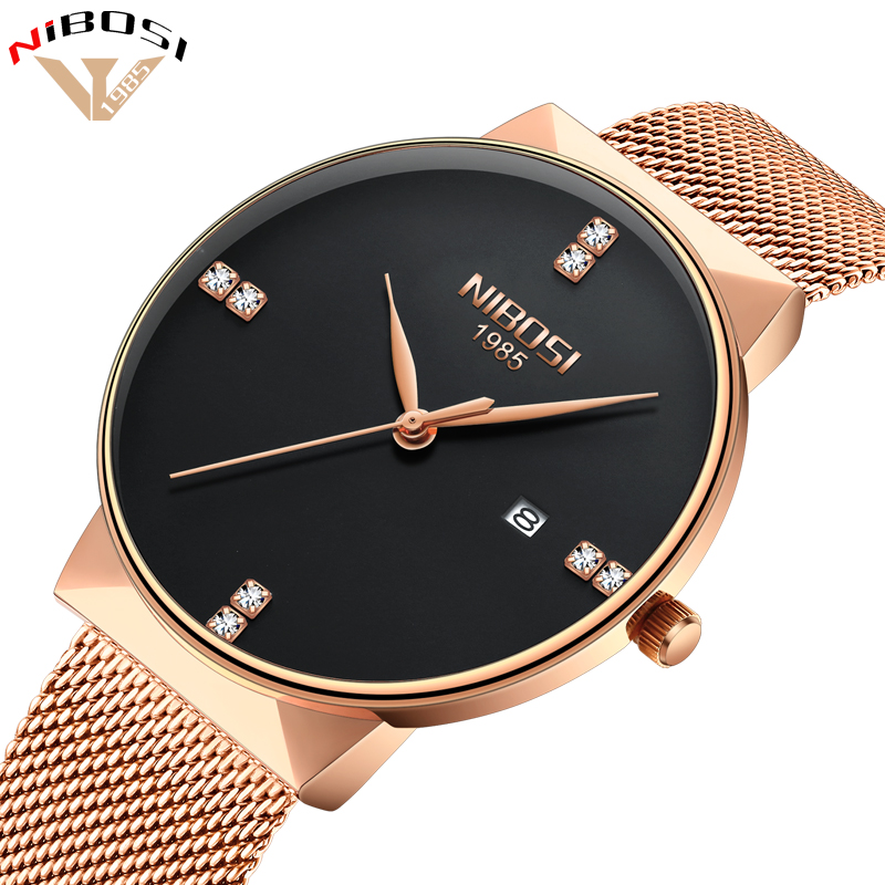 NIBOSI 2018 New Fashion Simple Watch Slim Mesh Band Mens Dress Watches Top Brand Luxury Male Relogio Masculino Quartz WristwatchNIBOSI 2018 New Fashion Simple Watch Slim Mesh Band Mens Dress Watches Top Brand Luxury Male Relogio Masculino Quartz Wristwatch