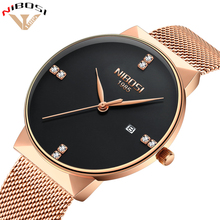 цена на NIBOSI 2018 New Fashion Simple Watch Slim Mesh Band Mens Dress Watches Top Brand Luxury Male Relogio Masculino Quartz Wristwatch