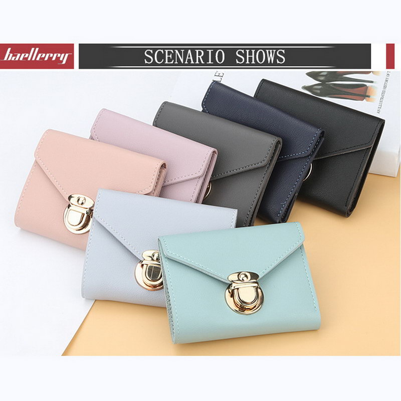 New Arrival Trifold PU Leather Wallet for Women Fashion Credit Card Holder Short Purse