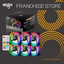 Ventiladores para PC Aigo DR12 3, con luces LED 120mm Quiet + control remoto IR