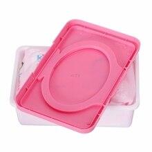 Розовый Сухой Влажной бумажный чехол для салфеток детские салфетки коробка для хранения салфеток пластиковый держатель Контейнер