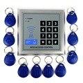 125 KHz para Controle de Acesso de Proximidade RFID Entrada Da Porta Sistema de Controle de Acesso + 10 Chave Berloques para Home Security F1601D